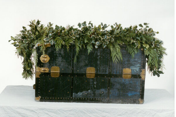 Mantel Garland with Variegated Holly