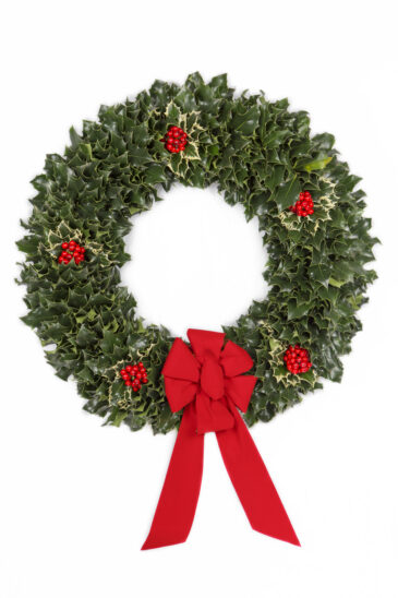 Green Holly Wreath – Our Signature Piece