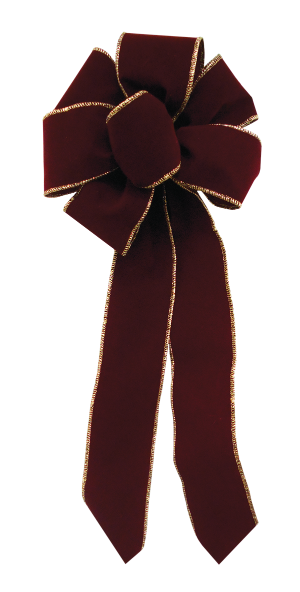 Burgundy Holiday Bow