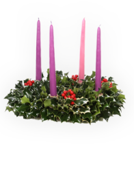 Holly Advent Wreath